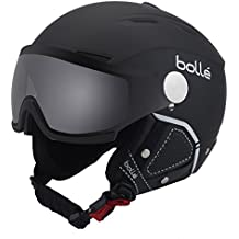 Bollé Backline Visor Premium Casco, Unisex, Negro/Blanco (Soft Black/White