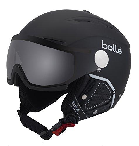 Bollé Backline Visor Premium Casco, Unisex, Negro/Blanco (Soft Black/White), L