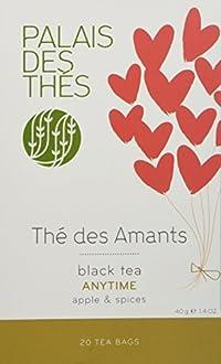Palais des Thés Thé des Amants Black Tea with Apple and Spices, 20 Tea Bags (40g/1.4oz)