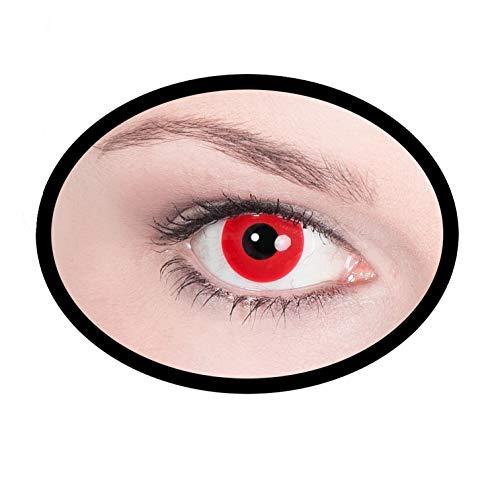 2) Kontaktlinsen/Tageslinsen, Unisex- Erwachsene, rot ()