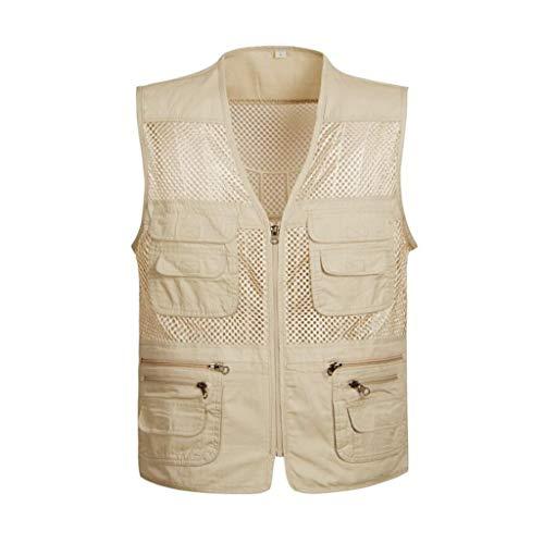 Männer Angeln Vest,Sommer Netz Atmungsaktivität Weste Outdoor Multi Pockets Fotografie G