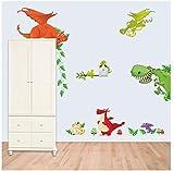 ZBYLL Wall Sticker der Dinosaurier Zoo Kinderzimmer Schlafzimmer Hintergrund Aufkleber