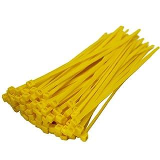 All Trade Direct Kabelbinder, 200x4,8mm, 50 Stück gelb
