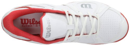 Wilson  TEAM W WHITE/WHITE/CHERRY W, Baskets de tennis femme Multicolore - Mehrfarbig (White/White/Cherry)