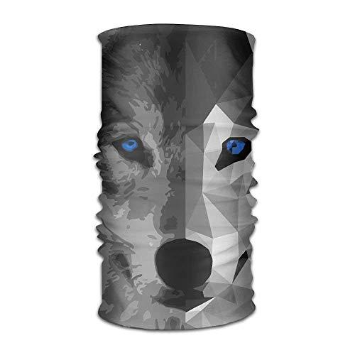 KENTONG Hill Wolf Blue Eyes Versatile Outdoors Daily Stylish Headwear Multifunctional Sport Headband Sweatband,Magic Scarf,Head Wrap,Neck Gaiter,Bandana,Helmet Liner, Balaclava,Tube Mask