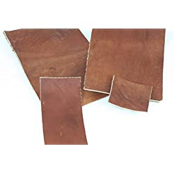"10x10 cm / 4""x4"" piece : 3,3mm+-0,5mm : Natural leather Vegetable Tanned patch rag scrap shred, Piel de cuero natural Vegetal Bronceado"