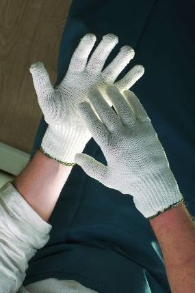 SKUA Arbeitshandschuhe, Handschuhe Nylon/Baumwolle, weiß 10 - Weiße Baumwoll-arbeitshandschuhe