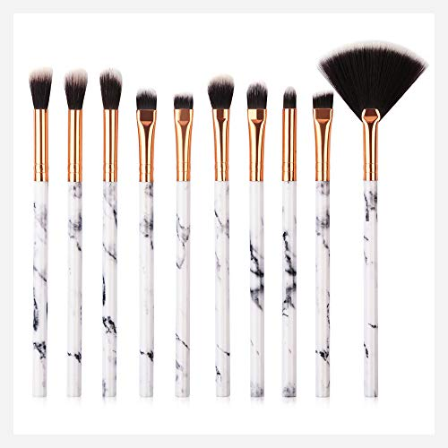 Cwemimifa Make-up-Sets,10 Pcs Makeup Brush Set Professional Face Eye Shadow Eyeliner Foundation Blush,Mehrfarbig A