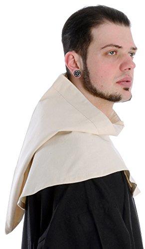 Mittelalter Kapuze Baumwolle Mittelalterliche Kleidung schwarz rot grün blau beige braun naturbeige