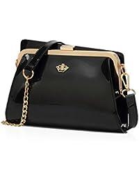NICOLE&DORIS 2018 Nouvelle mode dames sac à bandoulière matelassé chaîne mode sac à main en cuir fourre-tout, sacs bandoulière (Rouge)