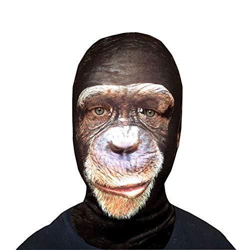GNS Halloween Sad Monkey Face Novelty Fun Stoff Face Maske Design Snood Gesichtsmaske hergestellt in Yorkshire ()