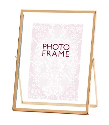 Ideal Trend Rosette Bilderrahmen in Rose Gold 10x15 cm 13x18 cm Porträt Tisch Foto Rahmen: Format: 10x15