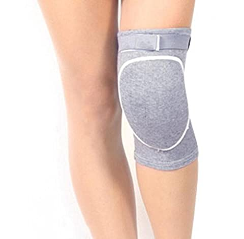 OOFWY Unisex Breathable Thicked Crashproof Antislip Dance Volleyball oder andere Sport Knieschoner Knie Stütz Knie Ärmel Brace Protector Pad Wrap Tape für Volleyball, Tanzen , gray , (Shin Wrap)