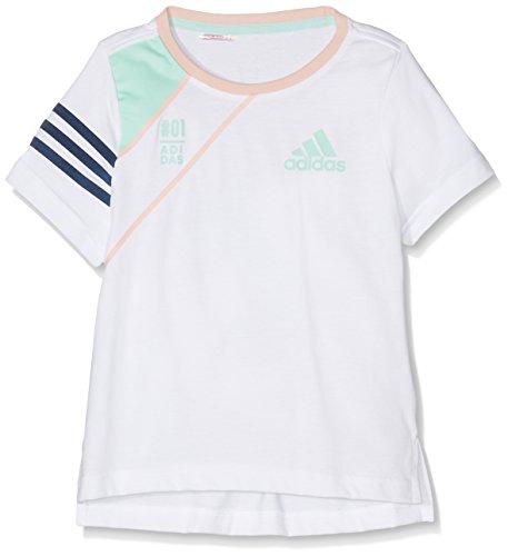 adidas Mädchen Adigirl Cotton T-Shirt, White/Vappnk, 134