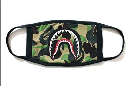 Mode A Badeaffe Bape Shark Schwarz Gesichtsmaske Camouflage Mund-Muffel BAPE Abdeckung (A)
