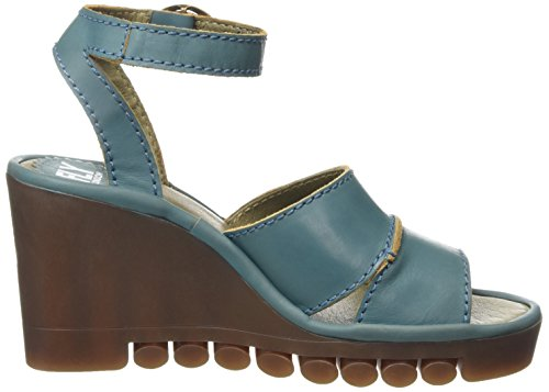 FLY London ROSE643FLY, Sandales Compensées femme Turquoise - Turquoise