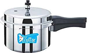 Flutter Aluminium Pressure Cooker, 3 litres/165mm, Silver