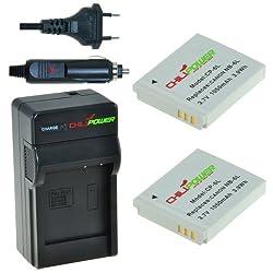 Chilipower Nb-6l, Cb-2ly Kit; 2x Akku (1050mah) + Ladegerät Für Canon Powershot D10, D20, S90, S95, S120, Sd770 Is, Sd980 Is, Sd1200 Is, Sd1300 Is, Sd3500 Is, Sd4000 Is, Sx170 Is, Sx240 Hs, Sx260 Hs, Sx270 Hs, Sx280 Hs, Sx500 Is, Sx510 Hs, Elph 500 Hs, Ixus 25 Is, 85 Is, 95 Is, Digital Ixus 105, 200 Is, 210