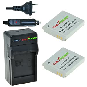 ChiliPower NB-6L, CB-2LY Kit; 2x Batterie (1100mAh) + Chargeur pour Canon PowerShot D10, D20, S90, S95, S120, SD770 IS, SD980 IS, SD1200 IS, SD1300 IS, SD3500 IS, SD4000 IS, SX170 IS, SX240 HS, SX260 HS, SX270 HS, SX280 HS, SX500 IS, SX510 HS, ELPH 500 HS, Ixus 25 IS, 85 IS, 95 IS, Digital Ixus 105, 200 IS, 210