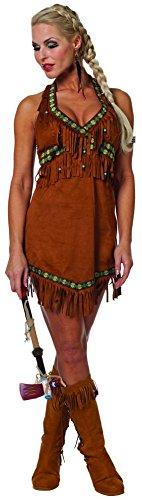 12und US 6Damen Sexy Squaw Indianerin Kostüm ()