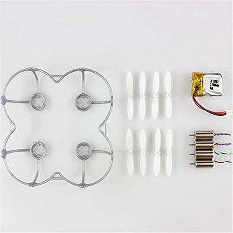 Pack Accessoires (Hélices Moteurs Batterie Protection) pour Cheerson CX-10C CX-10W / Eachine E10C E10W CX10C CX10W (GRIS)