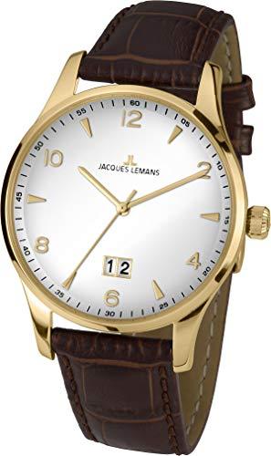 Jacques Lemans Reloj Analógico para Hombre de Cuarzo con Correa en Cuero 1-1862ZD