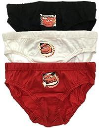 Disney Cars Rayo McQueen Slip 3Pack de niños ropa interior talla UK 1–5años