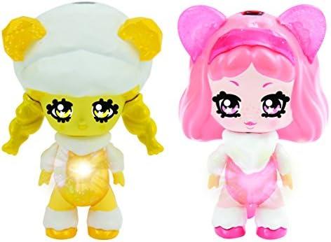 Nouvelle génération, nouveau choix Glimmies Honeymia/Lia Mini-Figurine, GLP013, Jaune/Rose | Technologies De Pointe