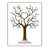 Wedding tree, Leinwand Herzbaum 003, Fingerabdruckbaum, Partyspiel, Ehebaum, Stempelbaum, Hochzeit (30x40)