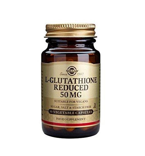 Solgar Glutatione, 50 Integratore Alimentare per il Fegato Antiossidante - 30 Capsule Vegetali
