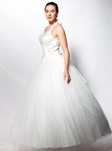 atopdress - Robe - Mariage - Sans Manche - Femme Ecru Ecru Blanc Cassé