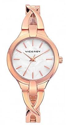 Viceroy Reloj Analógico para Mujer de Cuarzo con Correa en Acero Inoxidable 461030-97 de Viceroy