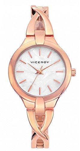 Viceroy Reloj Analógico para Mujer de Cuarzo con Correa en Acero Inoxidable 461030-97