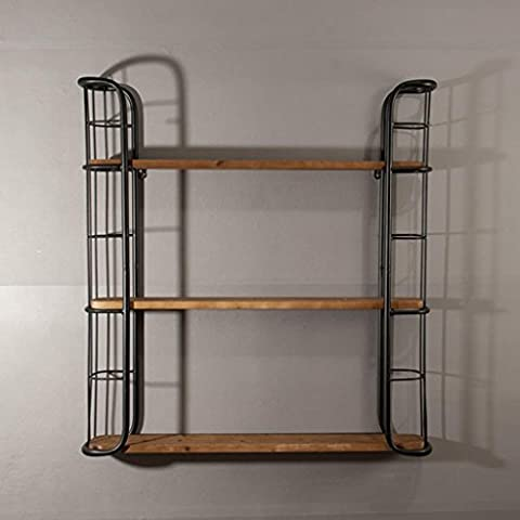 ZWL Loft Industrial Wind Wand Regal Lagerung Rack Holz Farbe Manuelle Weinregale Regal Milch Tee Shop Wand hängen Incorporated Fashion. z ( Farbe : #1 )