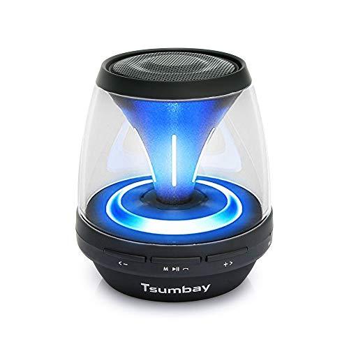 Mini LED Bluetooth Lautsprecher, Vivid Sound Tragbarer Lautsprecher Mit 12 Modus Licht Starken Bass Radio 3.5mm AUX Port Gute Kinder Nachtlicht (33 Fuß Bluetooth Reichweite)