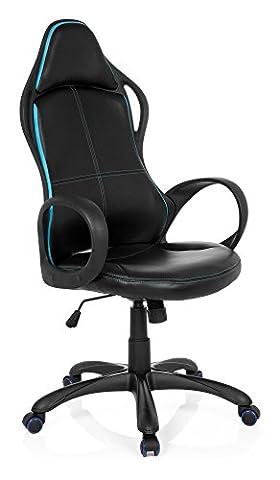 Gaming Stuhl / Bürostuhl TRON GII Kunstleder schwarz / blau hjh OFFICE