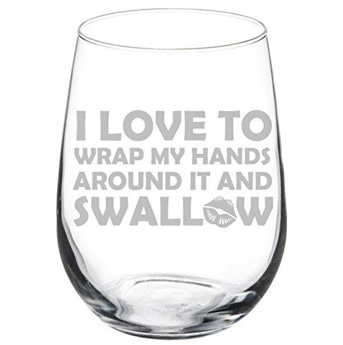 Weinglaskelch mit Aufschrift