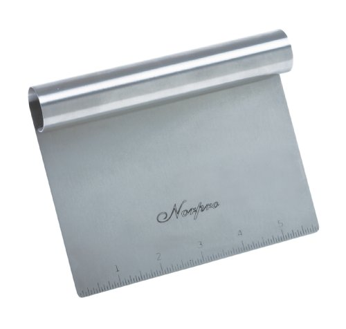 Norpro VEGETABLE CHOPPER Stainless Steel Bench Scraper Measuring Guide 577