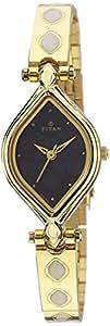 Titan Black Dial Metal Analog Watch For Women - 9639YM10