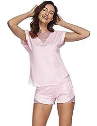 competitive price 53519 d4d46 Suchergebnis auf Amazon.de für: satin pyjama damen kurz ...