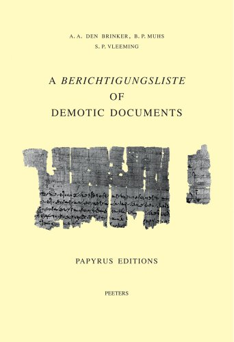a-berichtigungsliste-of-demotic-documents-papyrus-editions-studia-demotica