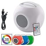 EASYmaxx 04293 Colorcube | LED-Bluetooth-Lautsprecher | Farbwechsel, Akku | Indoor und Outdoor - IPX4 Spritzwasser geschützt
