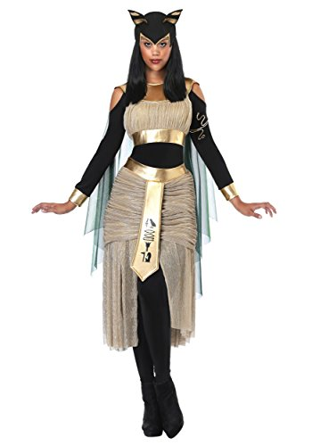 Frauen ägyptische Göttin Bastet Kostüm - ()
