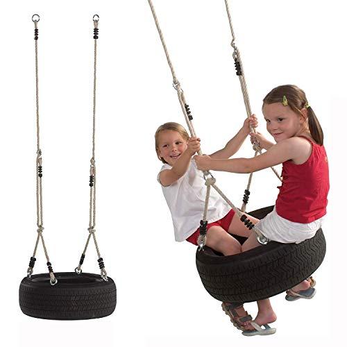 Gartenpirat Horizontale Reifenschaukel mit Reifen für Kinder -