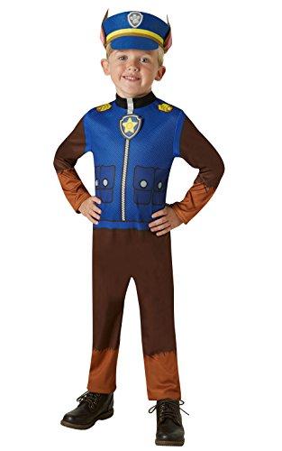 Rubie's offizielles PAW Patrol Chase-Kostüm-Kleinkinder von 2 bis 3Jahren, Größe 98cm