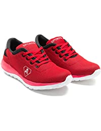 Zixer Red Black Running Sports Shoes For Men