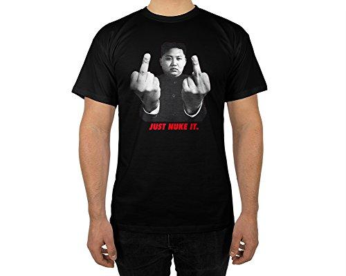 Männer T-Shirt mit Aufdruck in Schwarz Gr.