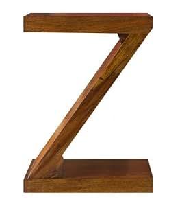 Indian Sheesham Étagère Cube Petite moderne Z Lampe de Table (Oaklands meubles)