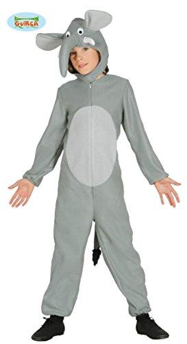 Kinder Tierkostüm grau süß Gr. 98-134, Größe:128/134 (Elefanten Kostüme Kinder)