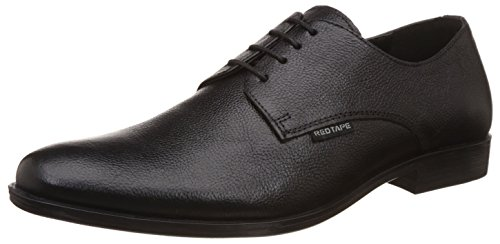 Red Tape Men's Black Leather Formal Shoes - 8 UK/India...